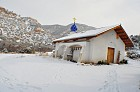 Church in the wintertime